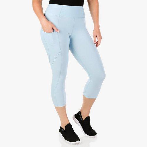 422deef6bafca Women's Active Slip Pocket Capri Leggings - Light Blue
