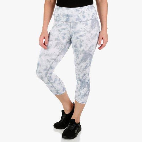 3e9b0184c1b Women s Active Hi-Waist Tie-Dye Capri Leggings - White Multi