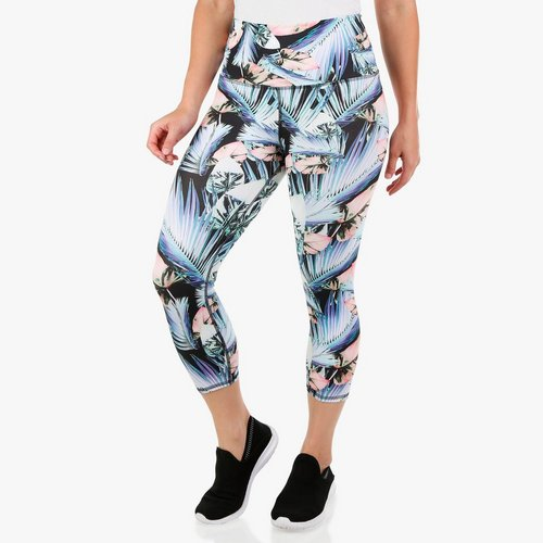 84ae465cf9ae55 Women's Active Hi-Waist Tropical Capri Leggings - Multi