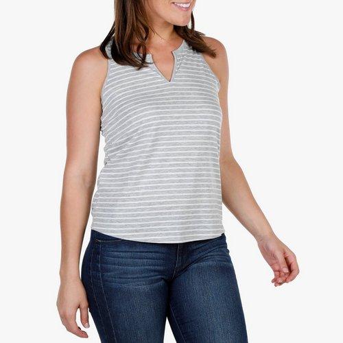 013fbb5d639 Women s Notch Stripe Tank - Heather Grey