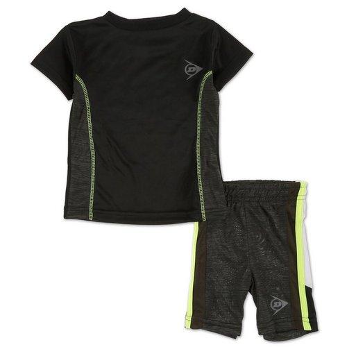 eb630169593e Boys Active 2 Pc Shorts Set - Black (12-24M)