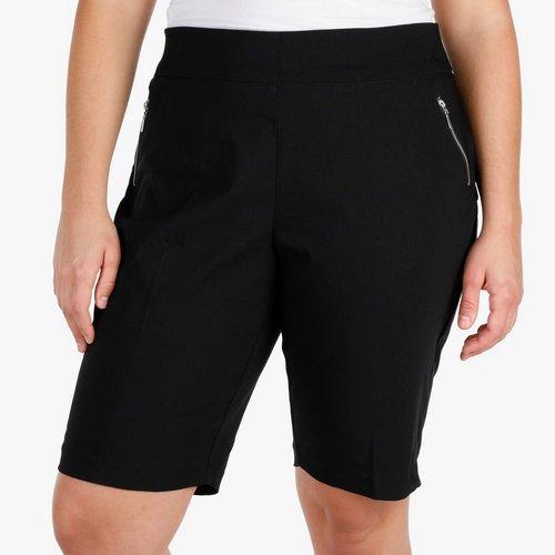 29574bae305 Women s Plus Zip Pocket Bermuda - Black. 1X  3X. More Sizes