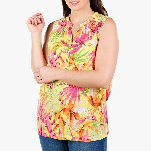 193b79d102197 Women s Plus Tropical Palm Popover Tank - Multi