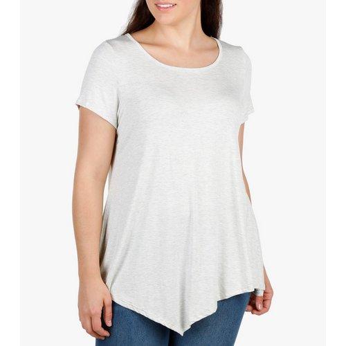 316c948f3cbe3 Women s Plus Pointed Hem Top - Grey