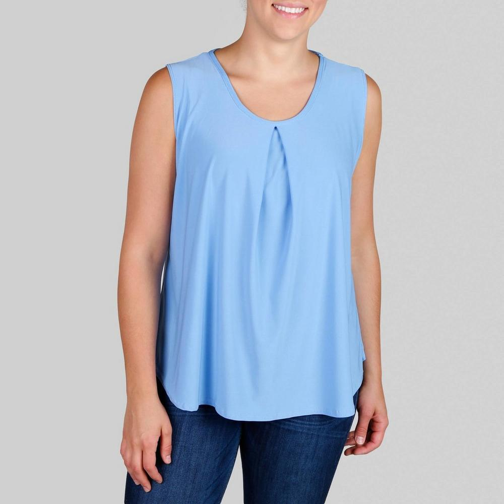 5ca933ab Women's Plus Inverted Pleat & Cage Top - Blue | Burkes Outlet