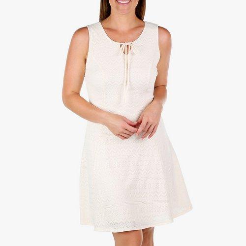4ca4e2442 Women's Sleeveless Lace Dress - Cream