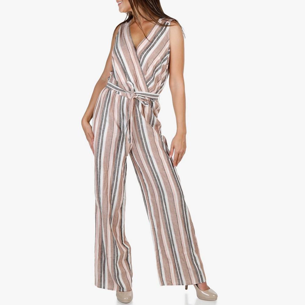 Women s Metallic Stripe Linen Jumper - Pink  e5858af8c