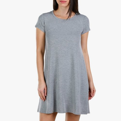 1a20ef4f575 Women s Cage Back T-Shirt Dress - Grey