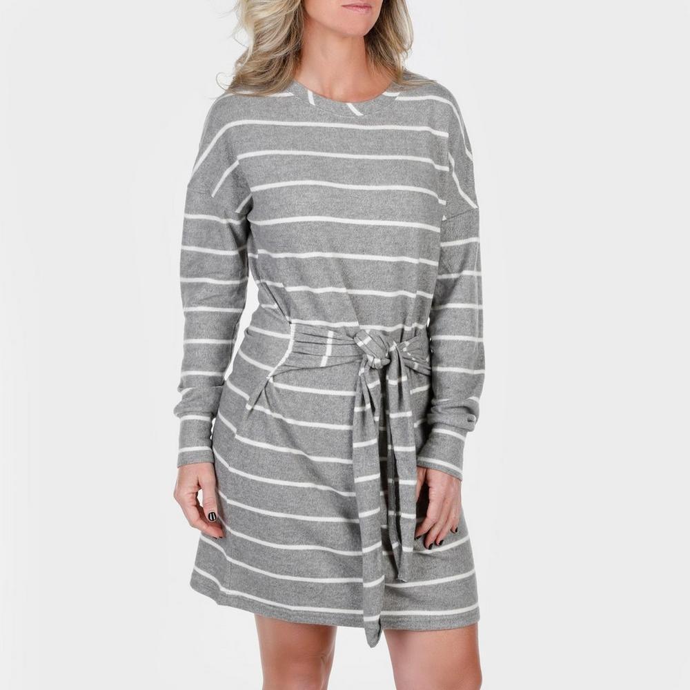 7f912337492 Women s Tie Front Sweater Dress - Grey