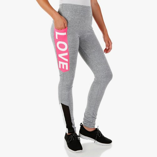 a5dee3a485 Junior Active Love Pocket Color Block Leggings - Grey