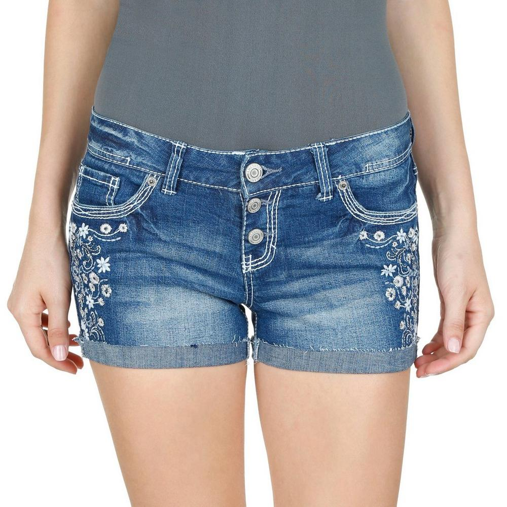 1ab49031 Junior Low Rise Jean Shorts - Dark | Burkes Outlet