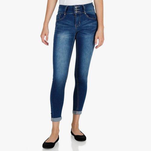 732fec24e8f Junior 3-Button Hi-Rise Skinny Jeans - Medium