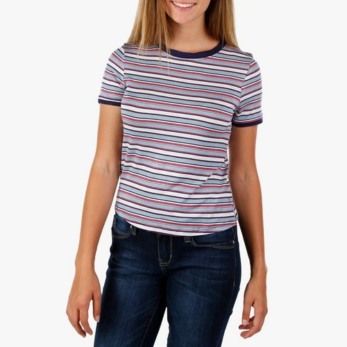1e6ac07cf1b Juniors Stripe Crop Top - Navy