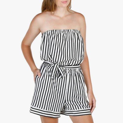 005232c95ea Junior Striped Tube Romper - White