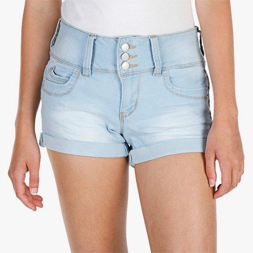 d04a861c8 Junior Wanna Betta Butt Hi-Waist Denim Shorts - Light