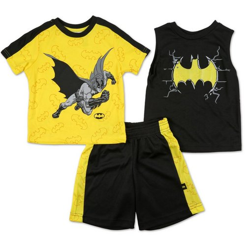 a8204c51 Boys 3 Pc Batman Shorts Set - Black/Yellow (4-7)