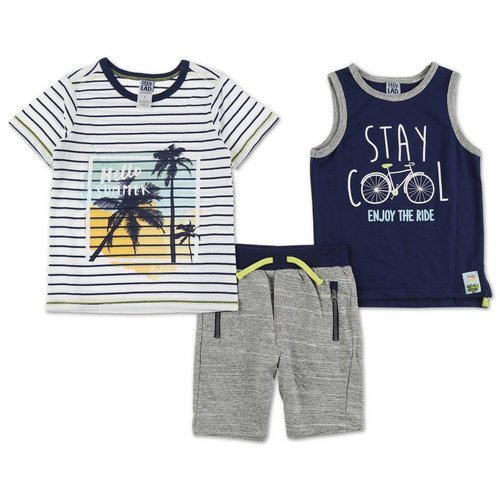 d6d78aa295910c Boys Hello Summer 3 Pc Shorts Set - Multi