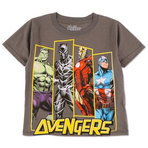 3a86a9a92dd19 Boys Character Graphic T-Shirt - Charcoal (8-20)