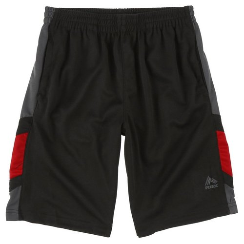 92bb4c8b1dfb Boys Active Leg Stripe Athletic Shorts - Black (8-20)