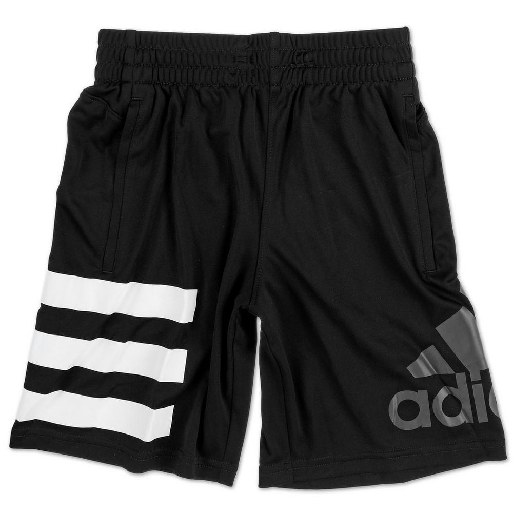 f81440241ba383 Boys Active 3-Stripe Logo Shorts - Black (8-20)