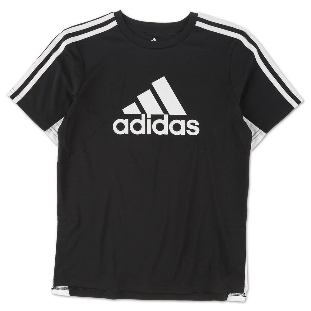 64d024eebd Boys Active 3-Stripe Logo Tee - Black (8-20)