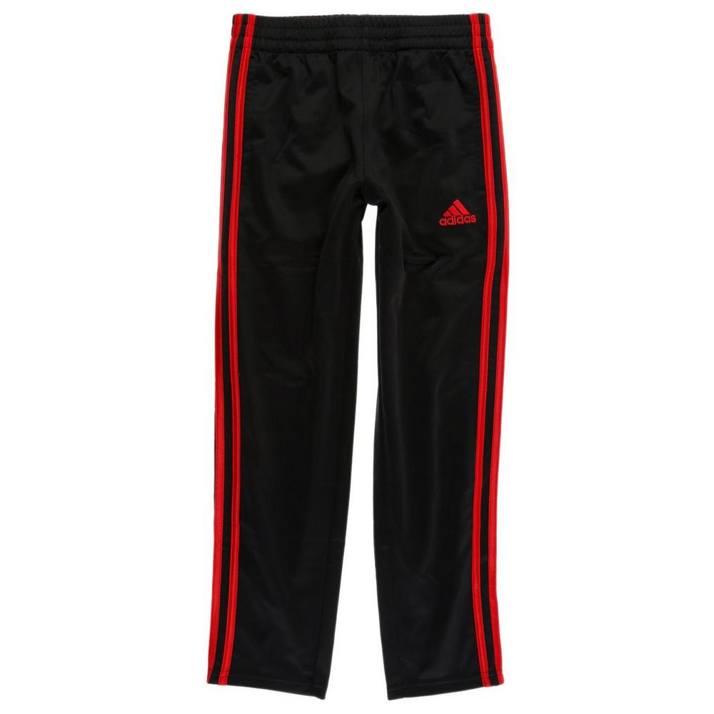 c6a3e55c3b4611 Boys Active 3-Stripe Track Pants - Black Red (8-20)