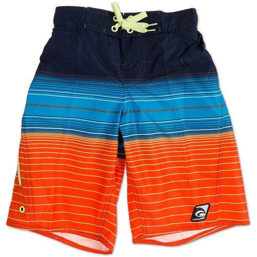8dba13243d0feb Boys Color Block Stripe Board Shorts - Blue
