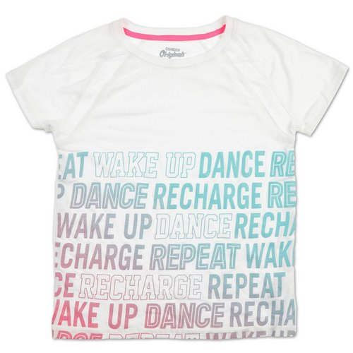 3377a1dd4 Girls Active Dance Graphic Tee - White