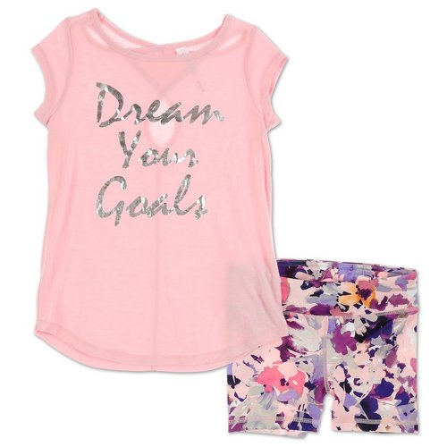 0f6a6770 Girls Active 2 Pc Dream Shorts Set - Pink (7-16)