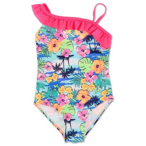 89be94bcf09 Girls Floral Print One-Piece Swimsuit - Multi (4-6X)