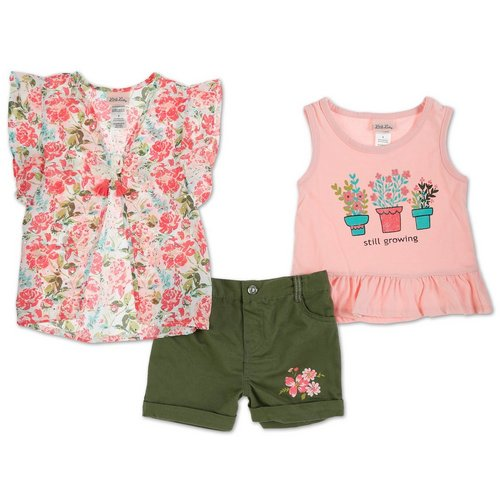 91d6743b Girls 3 Pc Shorts Set - Multi (4-6X)