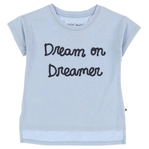 56de587d2d315 Girls Dream On Hi-Low Tee - Blue (4-6X)