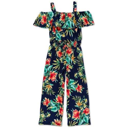ac4afa21dde Girls Floral Print Jumpsuit - Navy (7-16)
