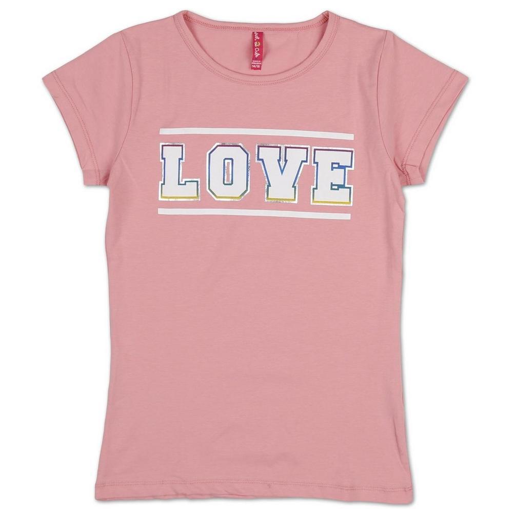 2c8af8551ebd Girls  Love Graphic Tee - Pink (7-16)
