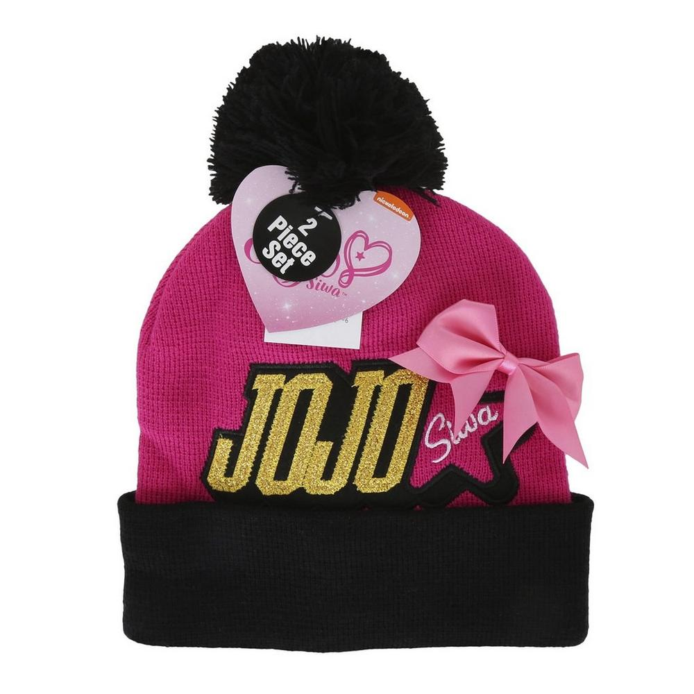 8c94632de7b Girls  JoJo Siwa Knit Hat   Gloves Set - Pink