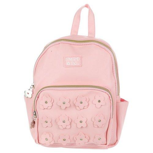 Girls Jeweled Flower Fashion Backpack - Pink 0f2cc443565b4