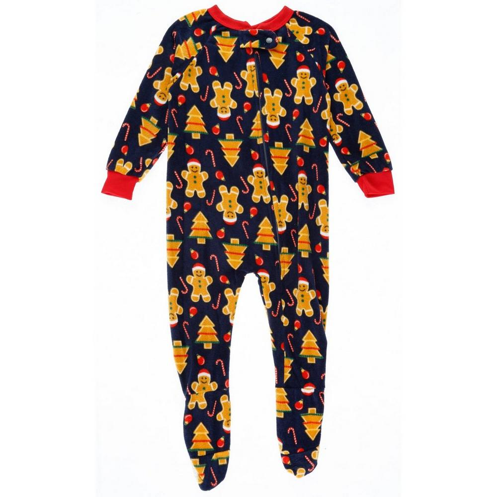00485fb903 Boys Gingerbread Fleece Footed Sleeper - Black (2T-4T)