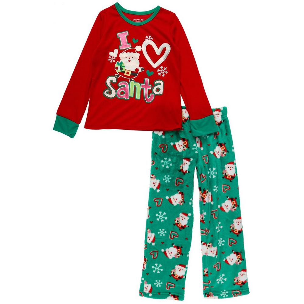 Girls I Love Santa Pajama Set - Multi (7-16)  a35166e49