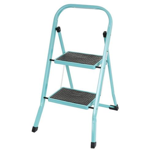 Outstanding 2 Tier Step Ladder Aqua Alphanode Cool Chair Designs And Ideas Alphanodeonline