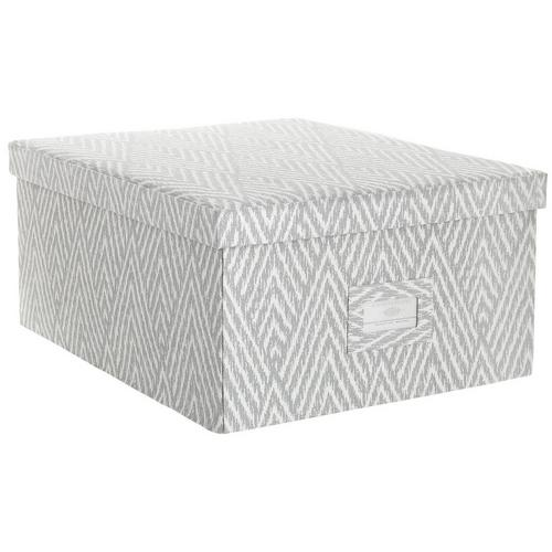 Pleasant Large Chevron Storage Box Grey Caraccident5 Cool Chair Designs And Ideas Caraccident5Info