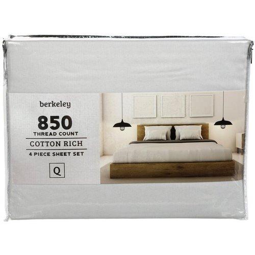 Queen 850 Thread Count 4 Pc Sheet Set Light Grey