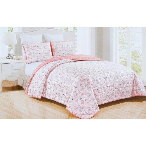 7f8589a9a134 King Pretty In Pink 3 Pc Quilt Set - Pink