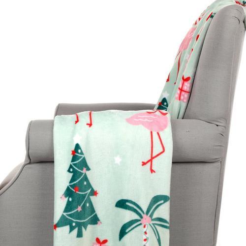 Christmas Throw Blanket.Coastal Christmas Throw Blanket Mint