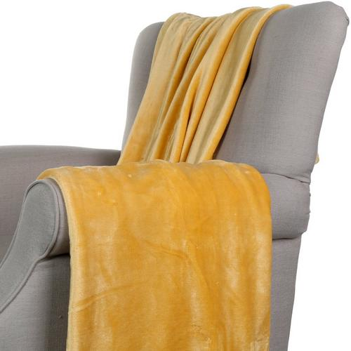 50x70 Fashion Plush Throw Blanket Light Yellow