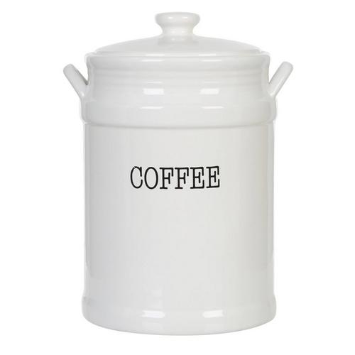 Coffee Canister W Lid White