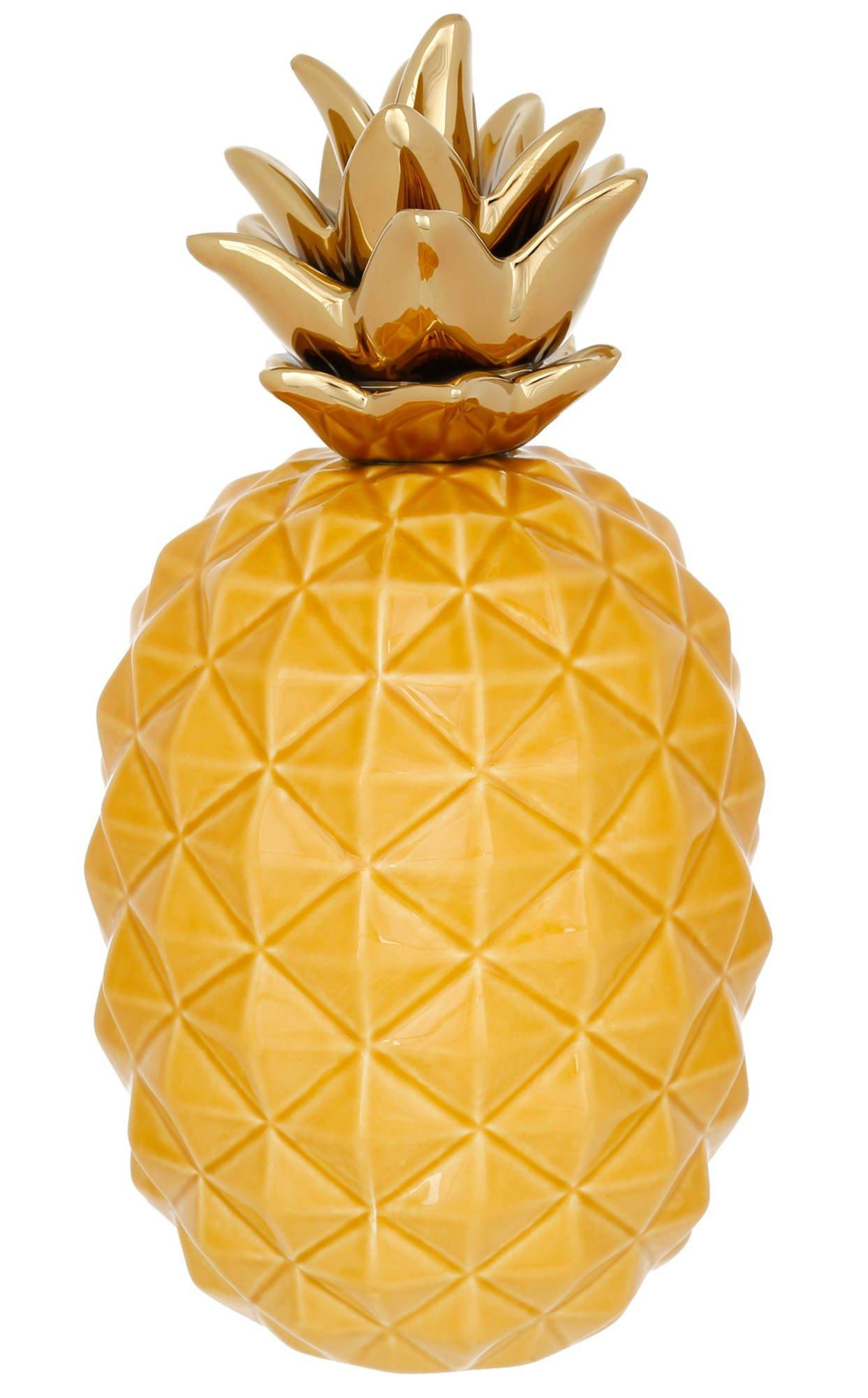 Ceramic Pineapple Home Decor Yellow Burkes Outlet
