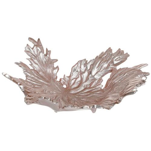 Wave Leaf Tray Accent Metallic Gold Burkes Outlet