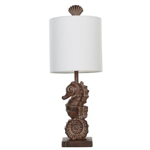 Seahorse 20 Table Lamp Brown Burkes Outlet