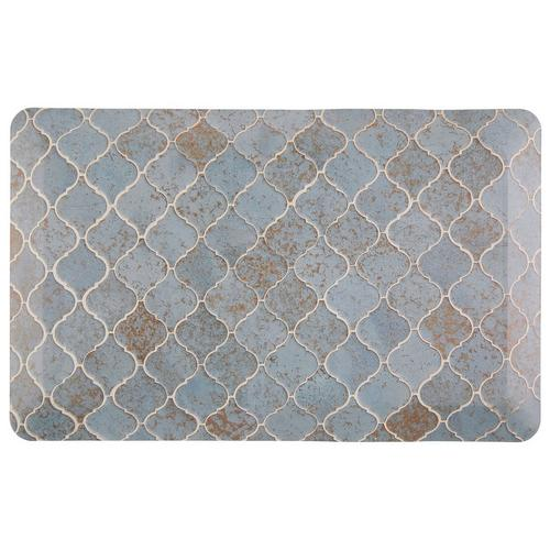 Memory Foam O Lattice.Lattice Tile Air Infused Memory Foam Kitchen Mat Multi