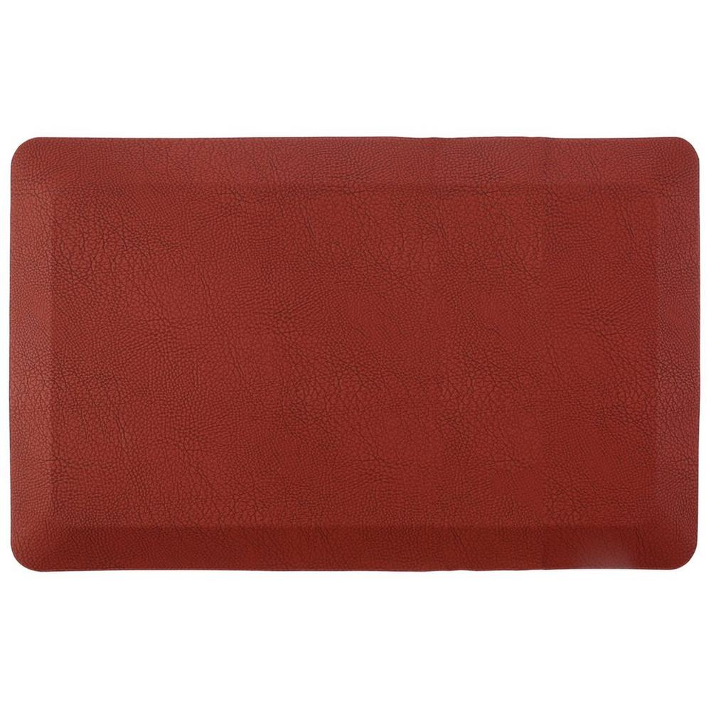 Air-Infused Memory Foam Kitchen Mat - Red